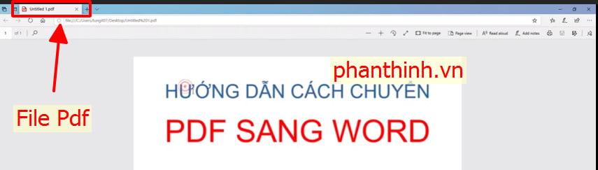 File Pdf sau khi chúng ta chuyển đổi từ Word các bạn nhé