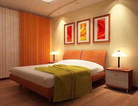 Rèm cửa phòng ngủ màu cam