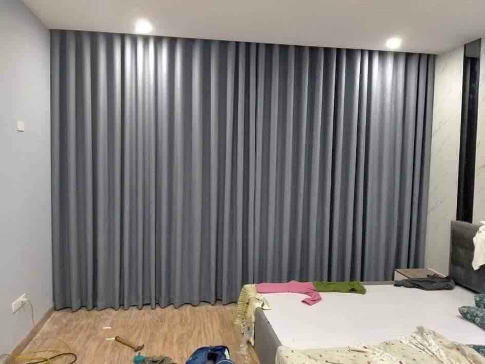 Rèm cửa màu xám thích hợp với mọi không gian