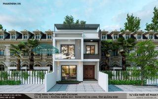Bản thiết kế nhà 2 tầng 1 tum 8x13m đẹp và hiện đại ở Quảng Ninh
