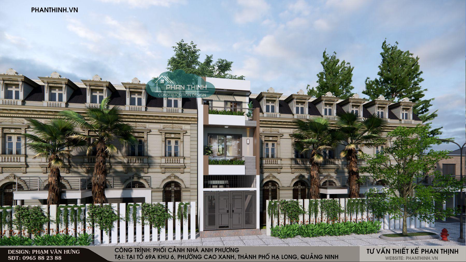 Thiết kế nhà đẹp 3 tầng ở Quảng Ninh