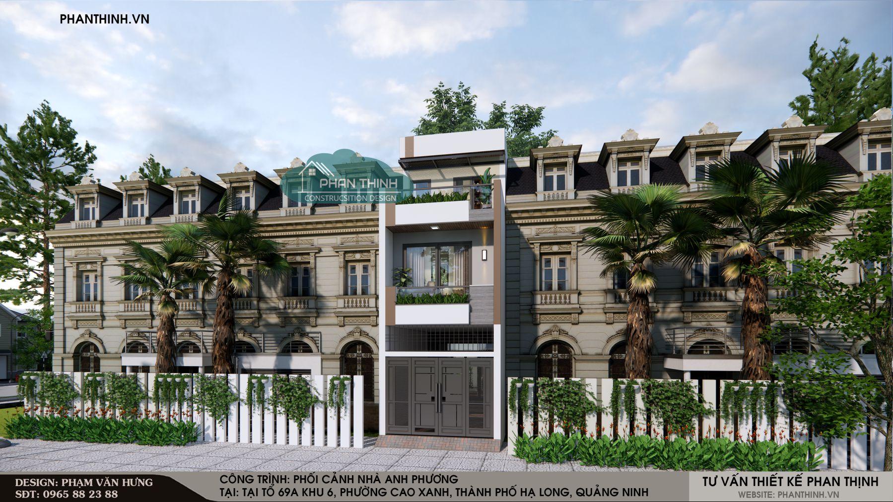 Thiết kế nhà phố đẹp ở Quảng Ninh