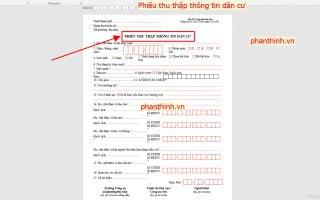 Mẫu phiếu thu thập thông tin dân cư word DC01, DC02 link Google Drive