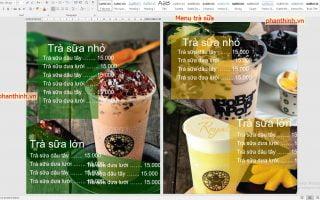 Download mẫu menu trà sữa file word cực đẹp và nhiều mẫu cho bạn.