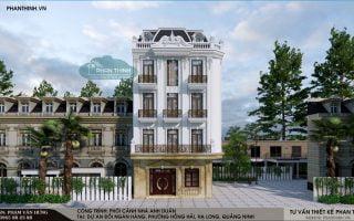 Mẫu nhà phố đẹp 5 tầng phong cách cách tân cổ điển tại Quảng Ninh