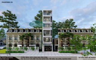 Nhà 5 tầng hiện đại mặt tiền 4,7m ở núi Mắm Tôm, Yết Kiêu, Quảng Ninh
