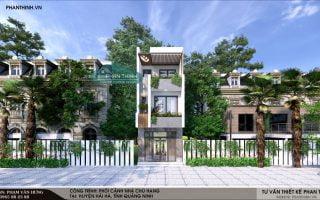 Mẫu nhà phố 3 tầng thiết kế hiện đại tại huyện Hải Hà tỉnh Quảng Ninh