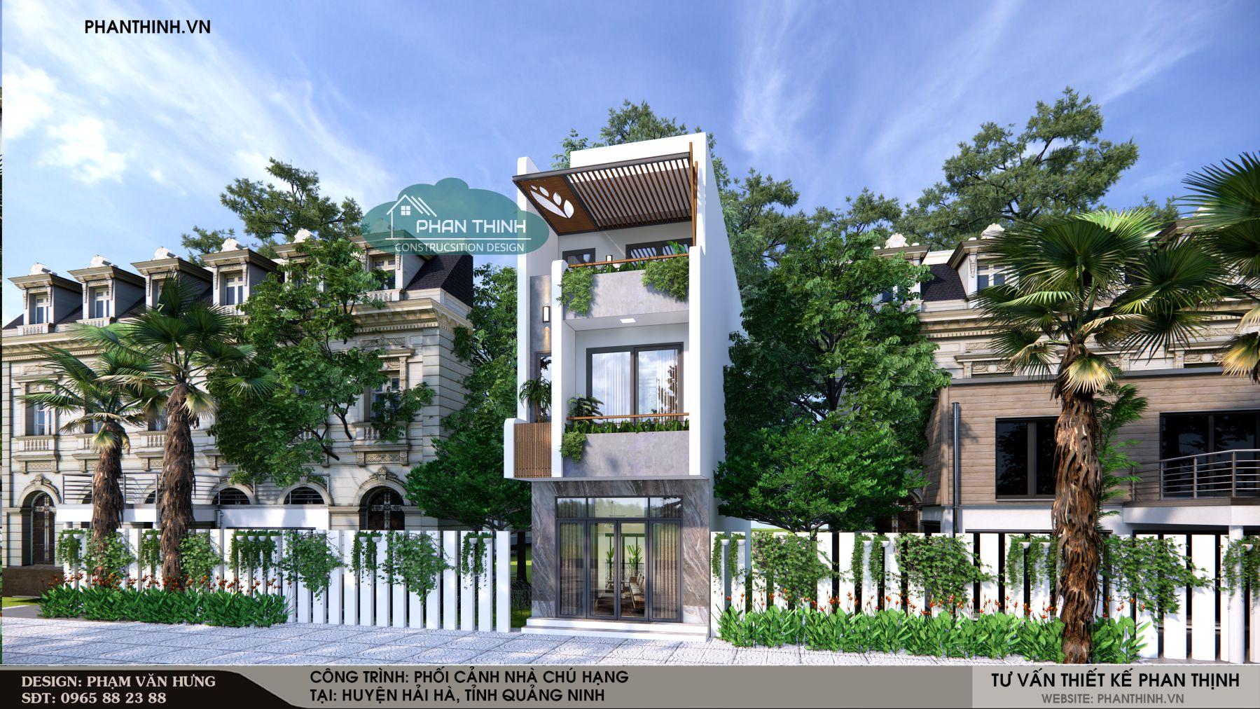 Thiết kế nhà 3 tầng mặt phố
