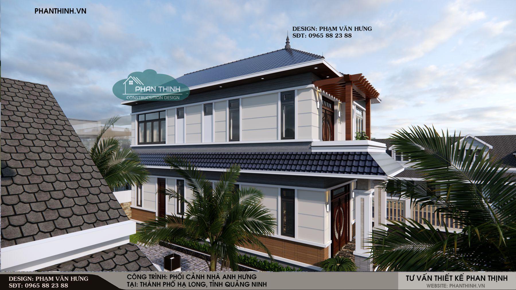 Mẫu biệt thự mái thái hiện đại tại Quảng Ninh