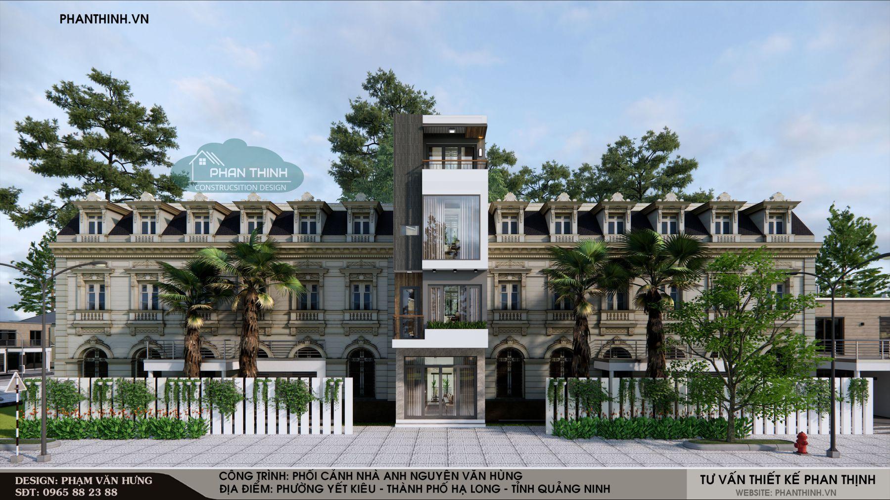 Mẫu nhà phố 4 tầng đẹp, hiện đại tại Yết Kiêu, Hạ Long