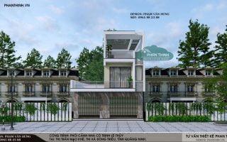 Mẫu nhà 3 tầng đẹp tại Quảng Ninh, thiết kế nhà phố 3 tầng tại Mạo Khê