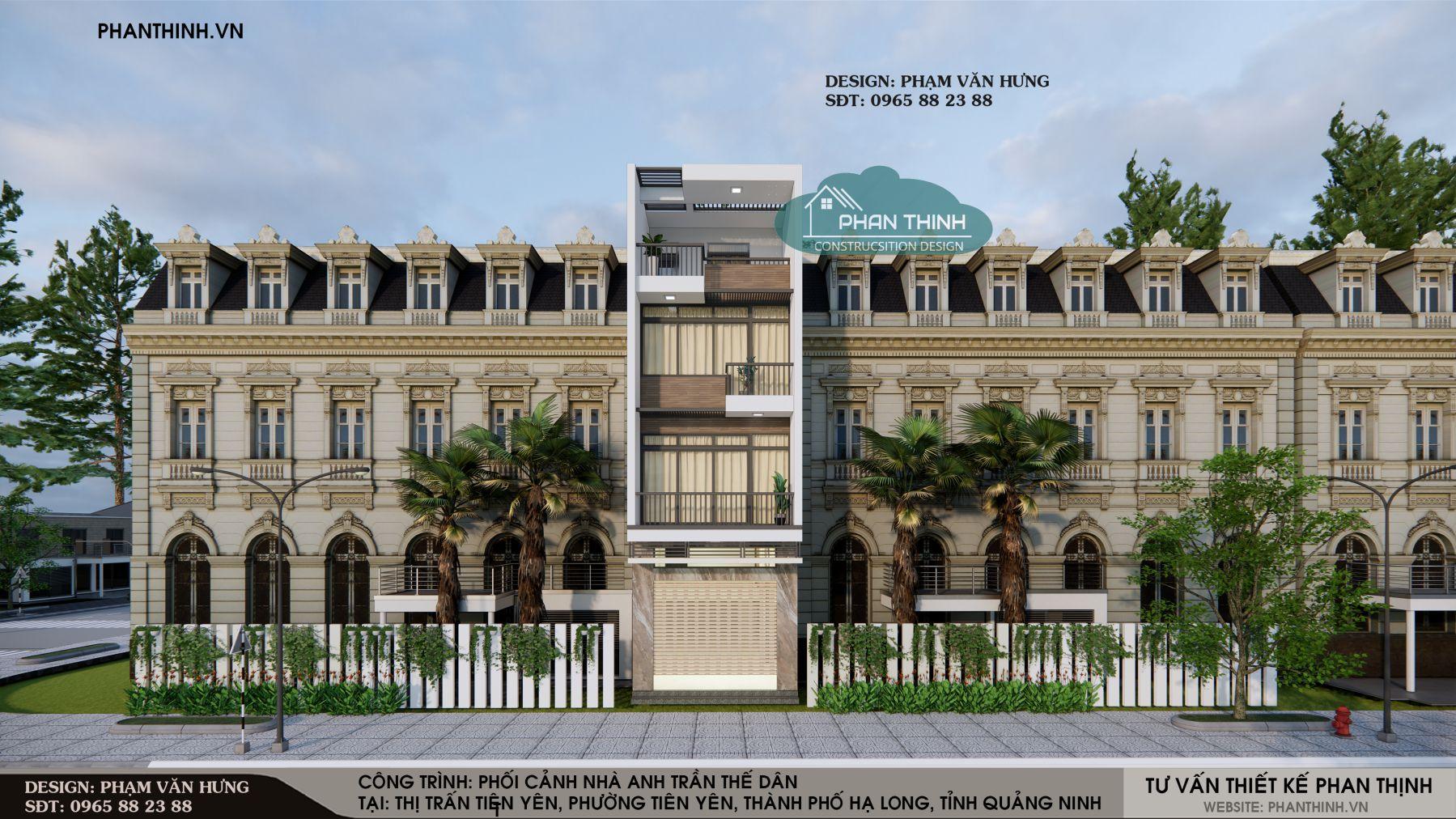 Kiểu nhà 3 tầng đẹp tại Tiên Yên Quảng Ninh