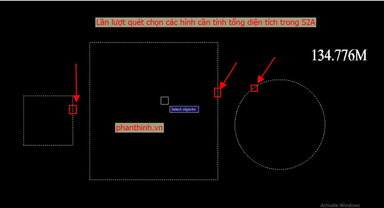 lisp tính tổng diện tích chu vi các hình polyline