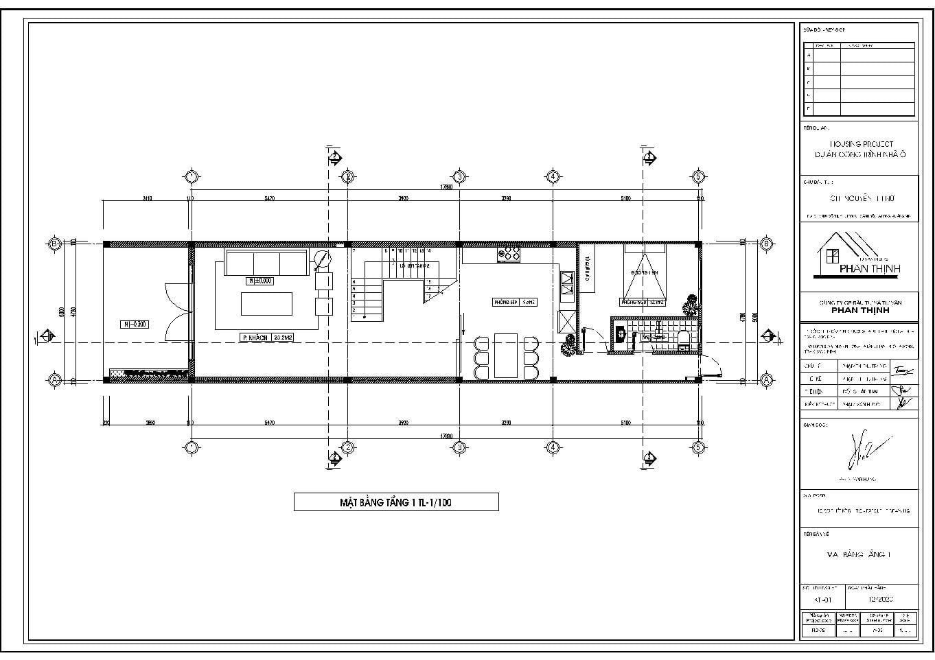 Mặt bằng thiết kế tại tầng 1