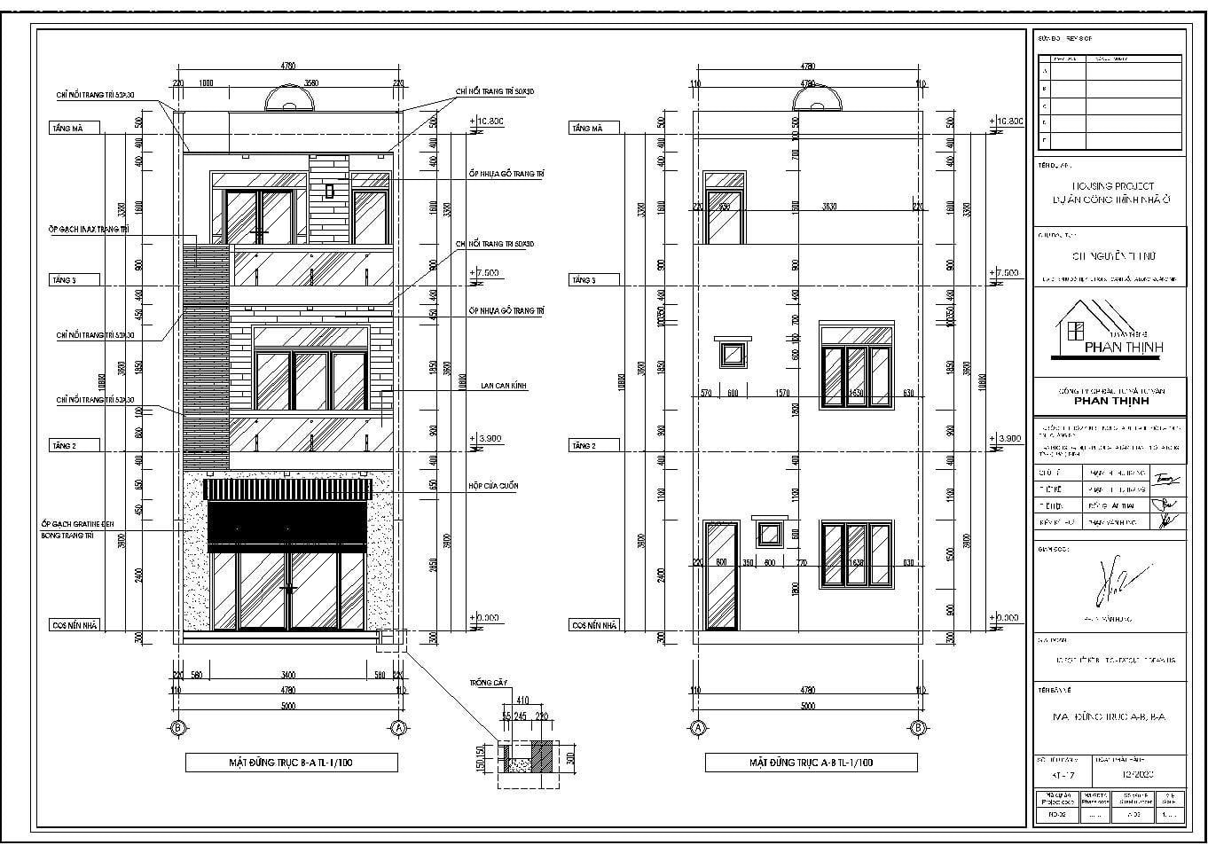 Thiết kế mặt đứng của công trình