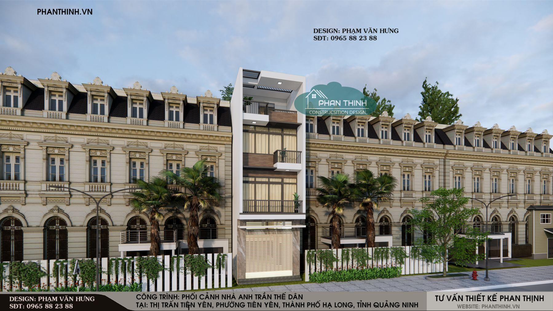 Mẫu nhà phố 3 tầng đẹp hiện đại ở Quảng Ninh