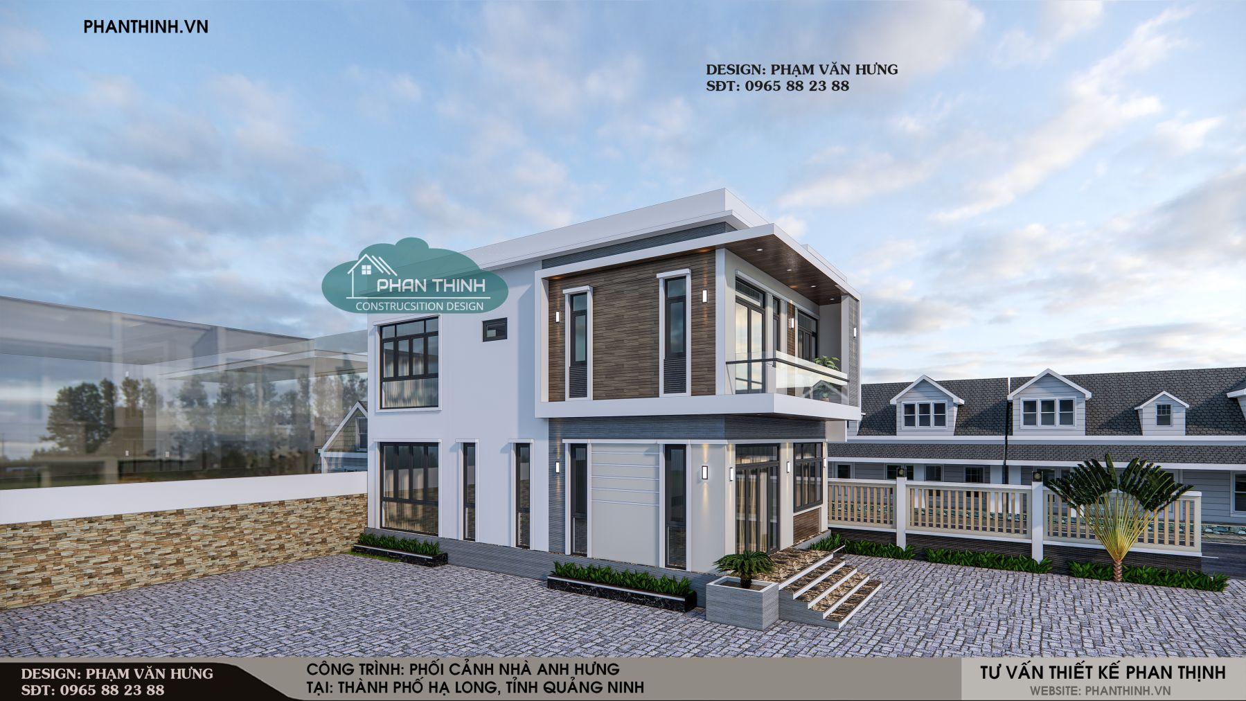 Ngôi nhà 2 tầng có phong cách thiết kế hiện đại