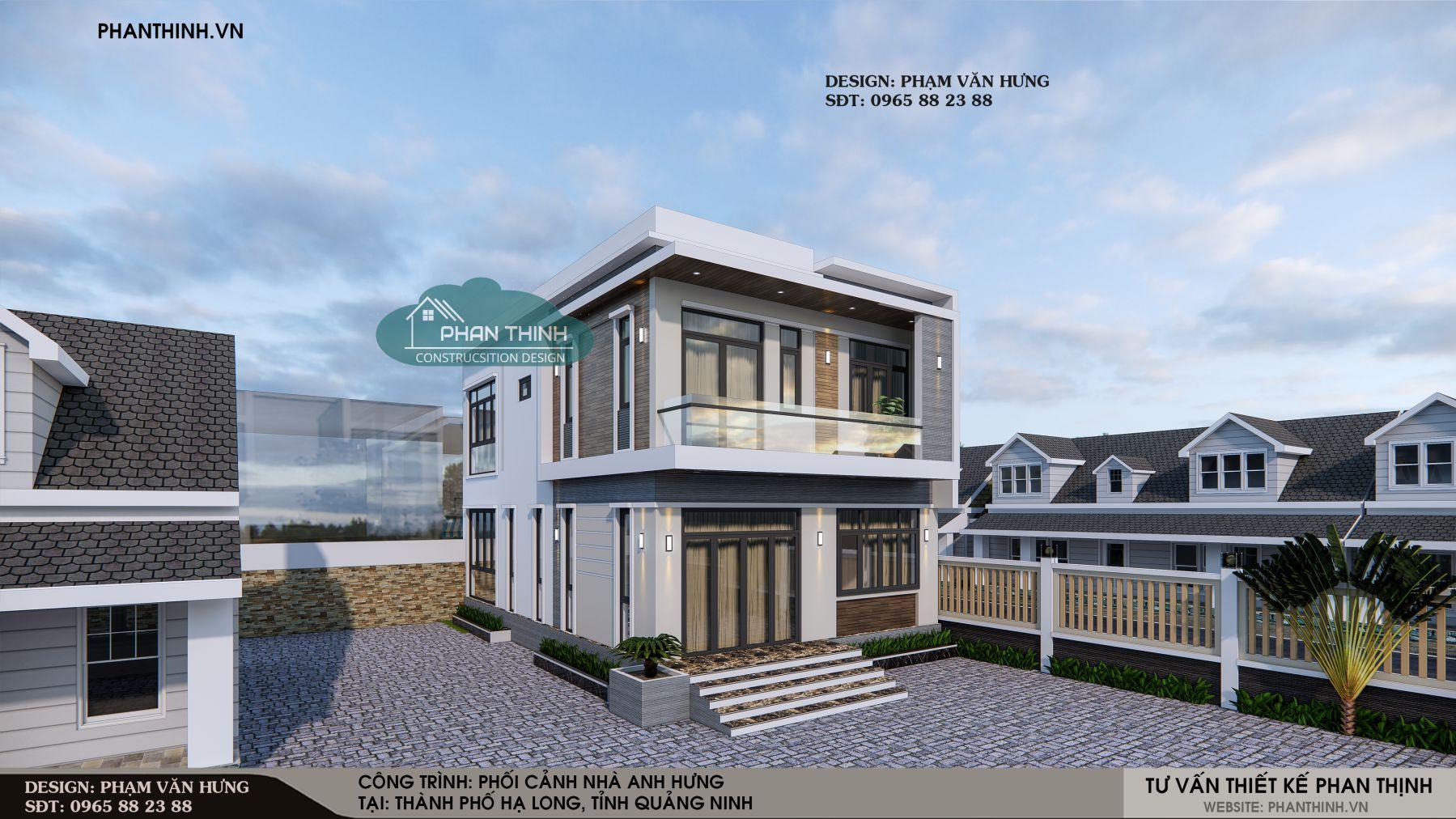 Nhà 2 tầng đẹp ở Quảng Ninh