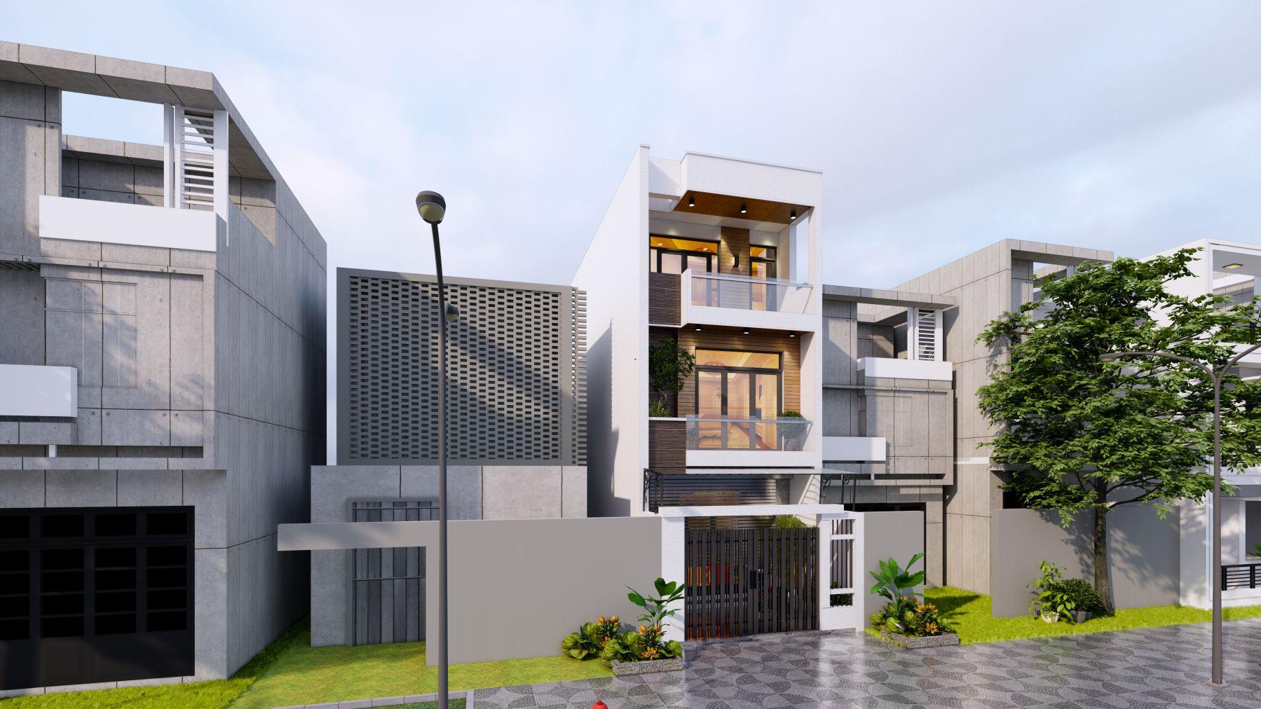 Phối cảnh thiết kế nhà ở Quảng Ninh