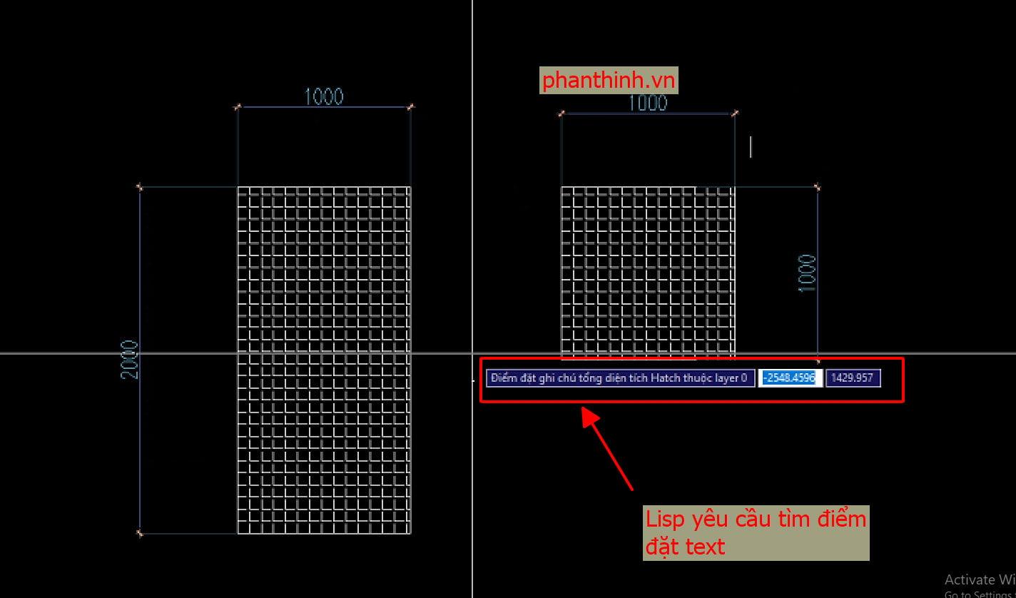 Sử dụng lisp tính diện tích trong cad