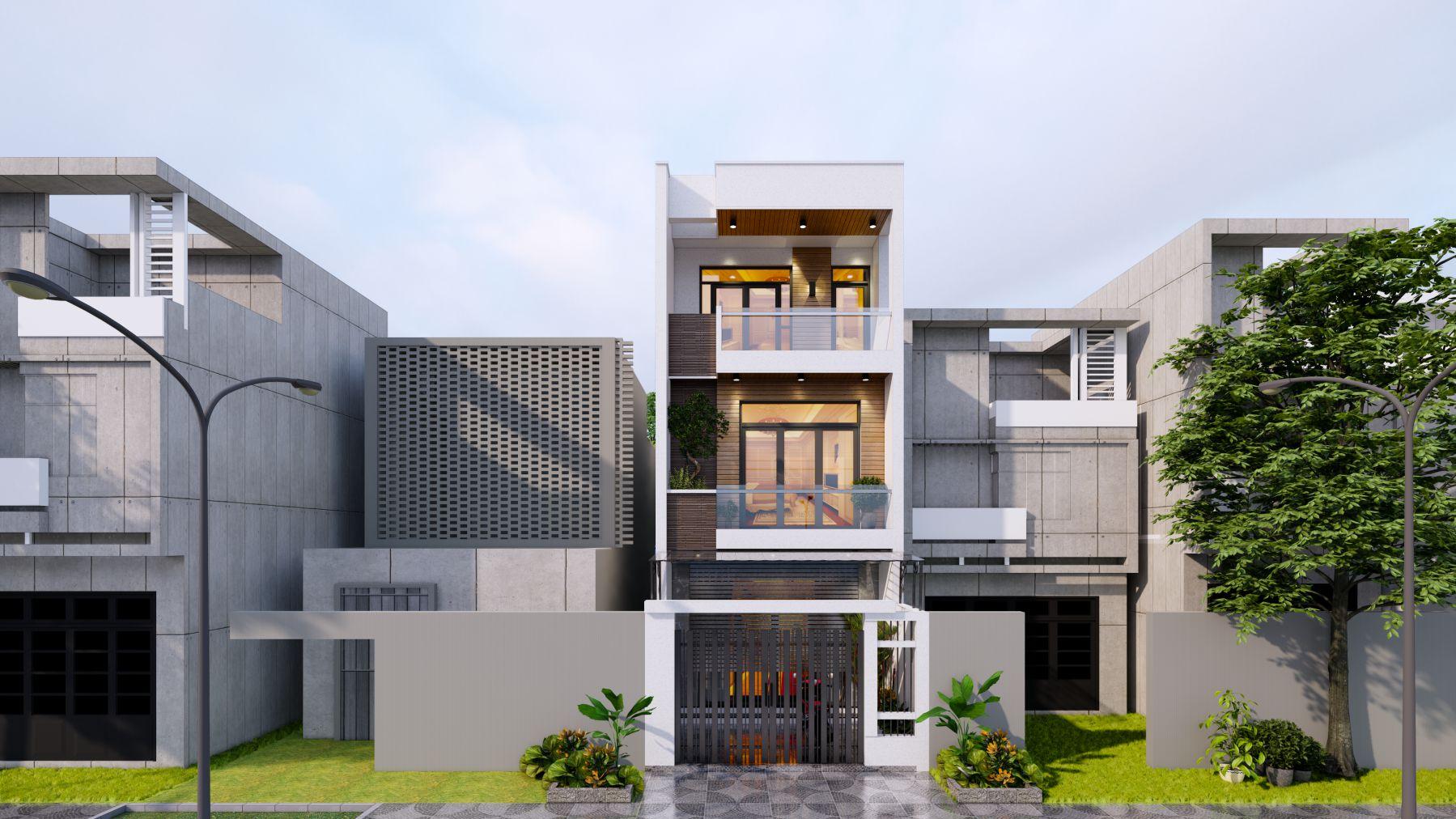 Hình ảnh mặt tiền thiết kế nhà tại Quảng Ninh