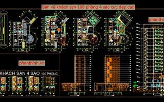 File cad resort đầy đủ, tổng hợp thư viện cad khách sạn resort link Google.