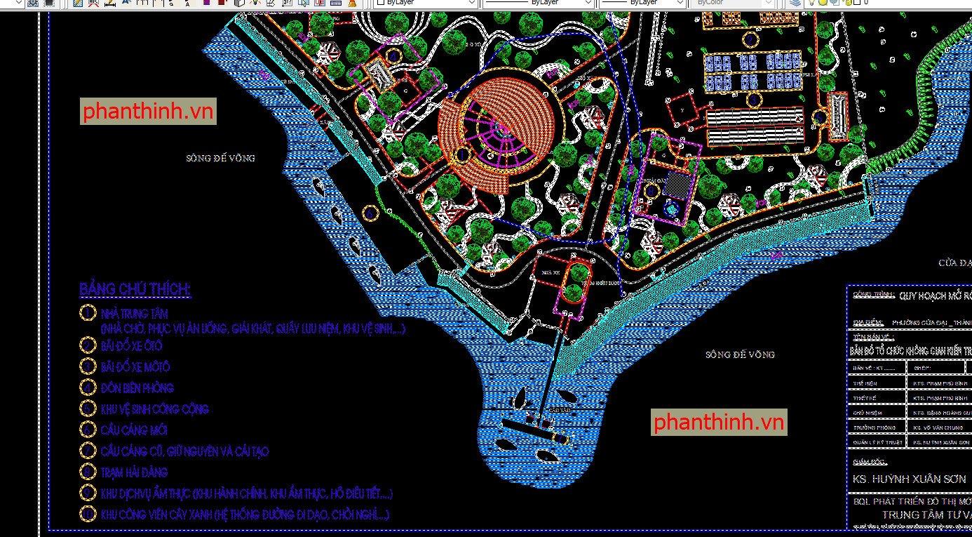 Quy hoạch chi tiết khu resort đẹp