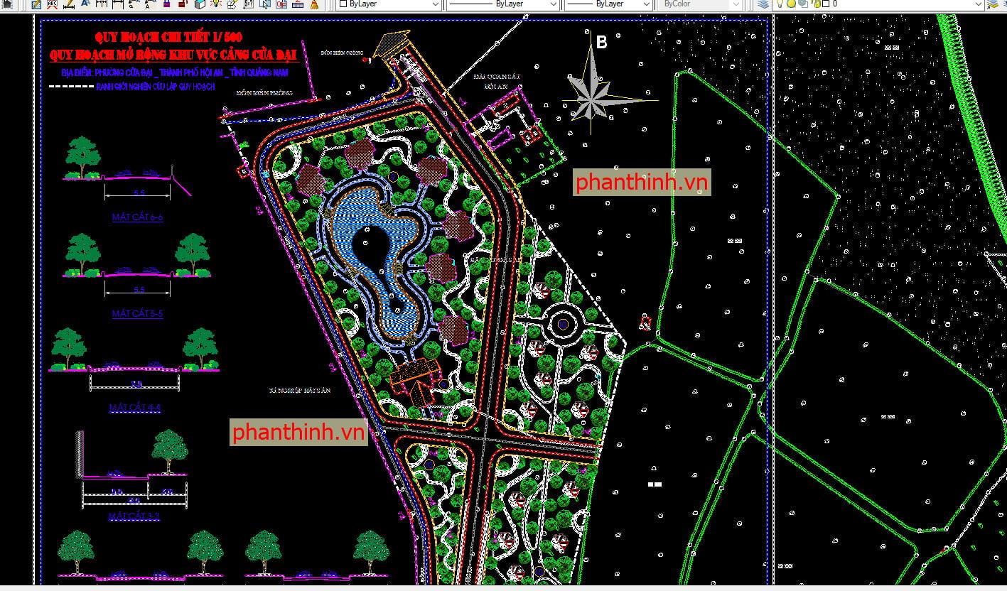 File tổng mặt bằng quy hoạch khu resort