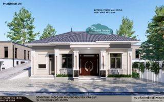 Thiết kế nhà Hải Dương, nhà mái thái 1 tầng đẹp tại huyện Thanh Miện