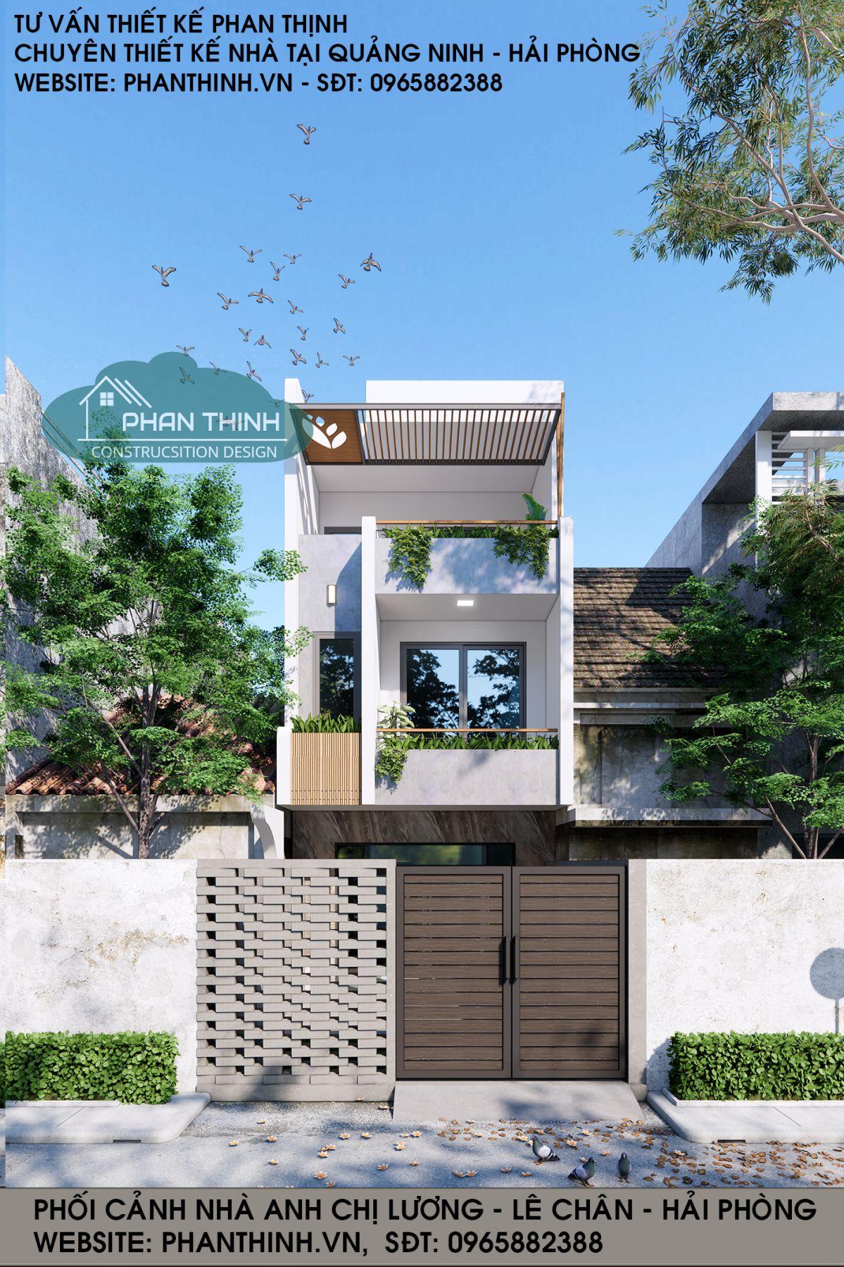 Mẫu nhà phố 3 tầng 5m hiện đại ở Hải Phòng