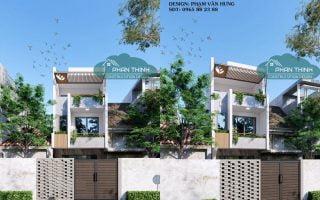 Thiết kế nhà tại Hải Phòng, ngôi nhà phố 3 tầng hiện đại mặt tiền 5m đẹp