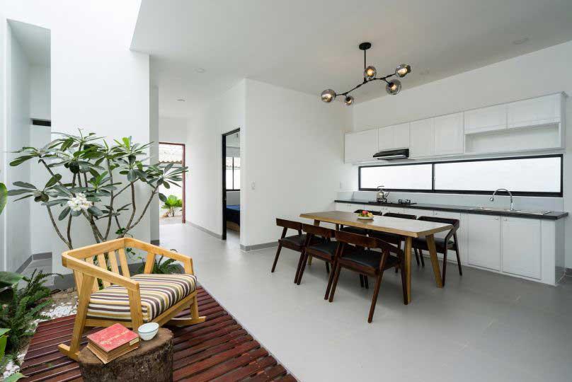 Hình ảnh vị trí bàn ăn của ngôi nhà