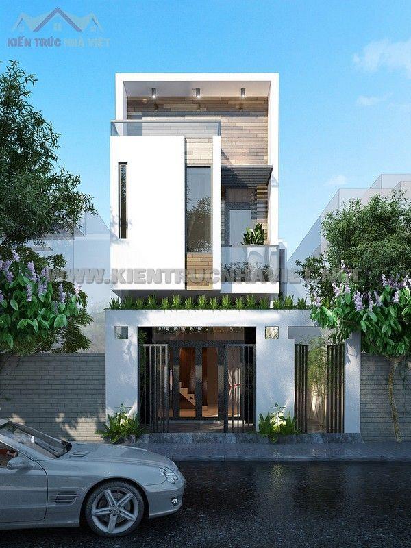 Thiết kế phối cảnh nhà phố 2 tầng mang phong cách hiện đại