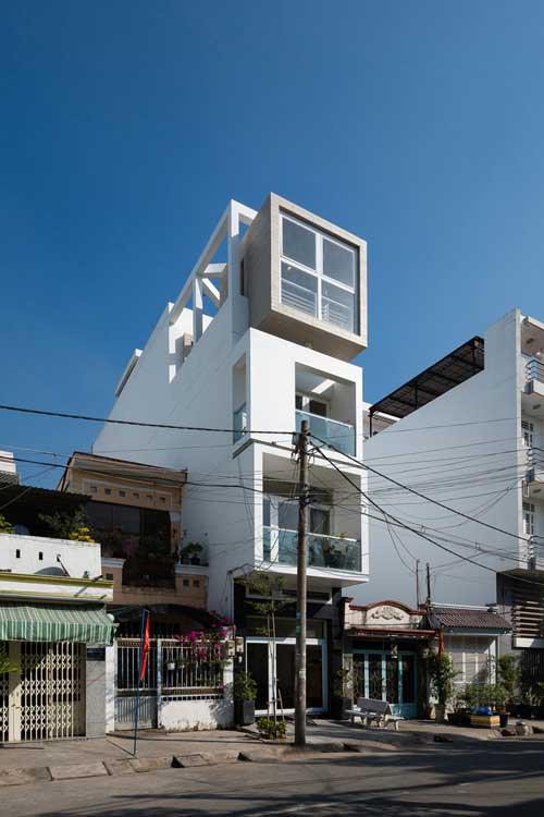 Ngôi nhà phố 4 tầng sau khi hoàn thành