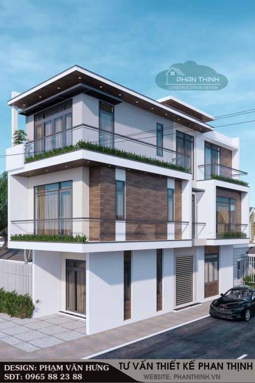 Tổng hợp hình ảnh thi công nhà 3 tầng 2 mặt tiền hiện đại tại Hà Khánh - anh Thạch