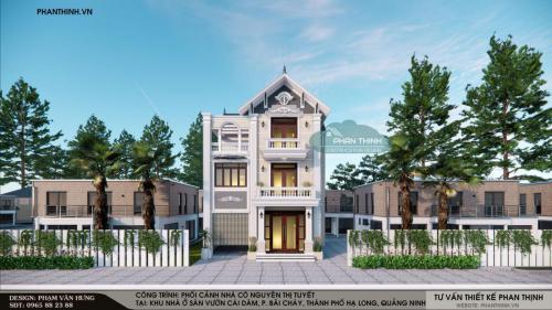 Hình ảnh giám sát nhà biệt thự 3 tầng mái thái tại khu Cái Dăm, phường Bãi Cháy, thành phố Hạ Long
