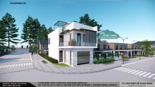 Hình ảnh giám sát tác giả sau thiết kế nhà tại khu Bí Trung 1, Phương Đông, Uông Bí